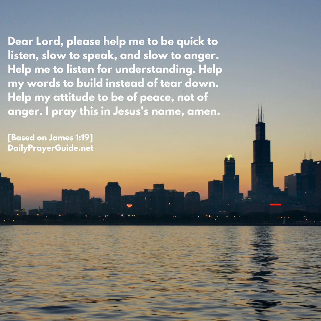 A Prayer For Patience And Understanding James 119 Daily Prayer