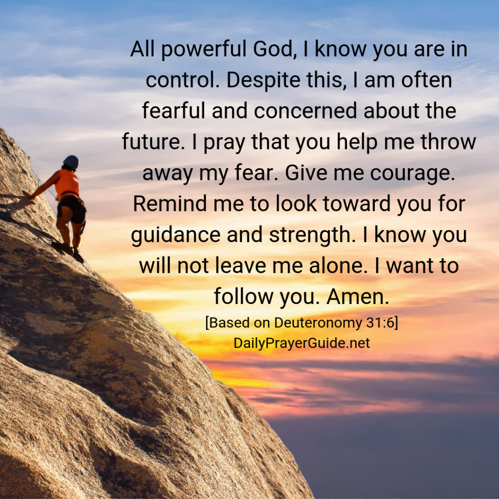 A Prayer To Be Strong And Of Good Courage [Deuteronomy 31:6 ...
